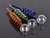 Bon Marché Tubes narguilé-Vente en gros tubes en verre tuyaux en verre incurvé brûleurs tuyaux en acier inoxydable