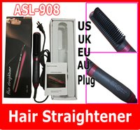 als control - New ALS Hair Straightener Rotatable Power Line Button Control Straight Hair Comb KD Straightener Iron Brush US UK EU AU Plug