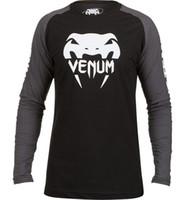 mma shirt - In stock MMA sport long T shirt Muay Thai black Grey