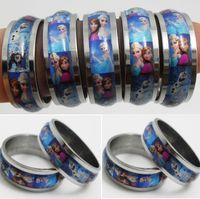 bulk rings - Bulk Frozen Stainless Steel Rings Grils Children Beautiful Rings Ana Elsa Band rings Fashion Party Gift Jewelry
