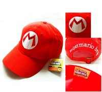 best anime characters - Super Mario Bro Anime Mario Cap Cosplay New Best Gift super mario hat cotton Christmas Gifts DHL Free