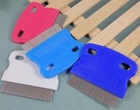 Wholesale 200pcs Pet cleaning supplies Pet fleas comb Dog cat fine toothed comb cm g