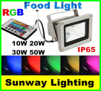 100w led - Outdoor W W W W W Waterproof IP65 LED Flood Light RGB Color Changing Wall Washer Lamp LED Lighting Key IR Remote Controller