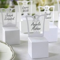 Wholesale 100pcs Wedding White Chair Candy Box Wedding Gift Box Wedding Favors
