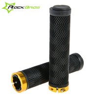 bicycle hand brake parts - 2015 ROCKBROS Outdoor Cycling Lockable Handlegrips MTB Mountain Bike Fixed Gear Lock on Grips Bicycle Parts Hand Grips Colors