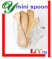 Wholesale wooden spoons set ice cream scoops coffee spoon tea spoons mini spoons table spoons kids children birthday party supplies animals stirrers