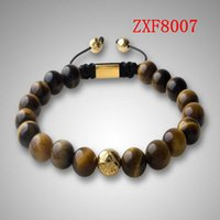 best news - 2016 NEWS HOT Nialaya Pure natural stone Alloy point drill Bracelets Shamballa Strip alloy Weave Best Popular Beaded Bracelet