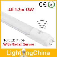 Wholesale New Arrival T8 Radar Sensor LED Tubes ft m W SMD2835 Warm White Cool White Energy Saving For Parking Aisle Staircase