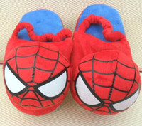 baby doll slippers - new pair Baby boys Spider man Slippers Children spiderman Plush Stuffed doll shoes kids Cartoon Home Shoes