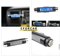 Wholesale New Auto LCD Digital Display Thermometer Car Meter Monitor Clock in with Backlight Brand New Quality