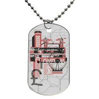 Wholesale London Travel Visit Customized Colorful Design Dog Tag Necklace Aluminum Tag for Animal Pets Tag