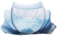 yurts - 2015 new blue baby crib mattress pillow mosquito net canopy tent folding portable bed nets yurts Parure
