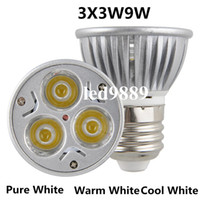 Wholesale High power CREE GU10 E27 E14 MR16 GU5 LED WLight lamp Bulb LED Downlight Warm Cool White