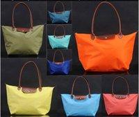 Wholesale Long Handle Tote Shopping Bag Nylon WaterProof Colorful Handbag