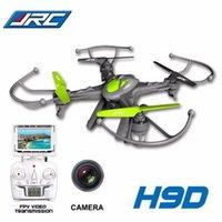 Precio de Pantallas digitales-Cámara del Helicóptero 2MP HD de los zánganos JJRC H9D de los drones JJRC H9D del drone HD H9D Quadcopter 2.4G FPV con la pantalla del LCD Envío libre