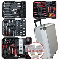 hand trolley - NEW Tool Set Mechanic Kit Box Case Organize Castors Tool box Trolley keys Hand Tool Automotive Repair Kits