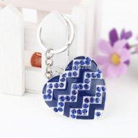 bag buyer - New Fashion Alloy Rhinestone Heart Key Chain for Purses Bags Mixed Color rhinestone buyer