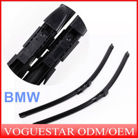 Wholesale 2PCS quot quot Car Wiper Rubber Strip Windscreen Wipers Blades Bracketless Arm for BMW SERIES E60 E61 Windshield Wiper ATP011