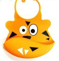 apron design - Promptional Waterproof Folding colorful Animal Design Baby Bib Apron Dress Soft and Safe Silicon infant Bib