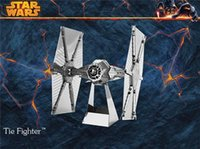 Wholesale 2015 Metal DIY assembly Toy model D Star Wars Tie Fighter High qualilty Christmas Toy Gift free DHL