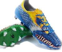 al por mayor dragón de cuero-2015 F50 FG Yamamoto Zapatos de fútbol Dragon limitado Tacones Botas de fútbol sintéticas de cuero Nuevos zapatos atléticos de los hombres 5 color