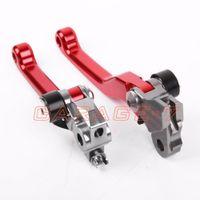 Wholesale Pivot Racing Red Brake Clutch Levers For Honda CRF R Dirt Bike Off Roads One Pair CNC