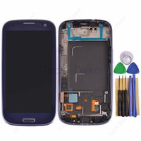 galaxy s3 digitizer - 1pcs LCD Display with Frame For Samsung Galaxy S3 i9300 i747 i535 LCD Screen With Touch Screen Digitizer with tools