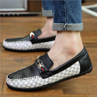 Wholesale 2015 New Fashion Sneakers genuine leather mens breathable Gommini driving shoes men s loafers Dress Shoes