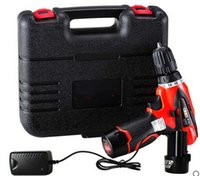 Wholesale Lithium rechargeable Cordless Drill Electric screwdriver double speed v