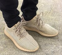 shoes box design - 2016 Kanye West Yeezy Boost Oxford Tan Running Shoes Fashion Design Yeezy Moon Rock Sport Shoes Pirate black With Box