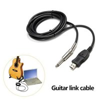 Wholesale Guitar Bass To USB Interface Link Instrument Cord Cable M mm Audio Connection Adpter PC
