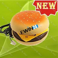 Wholesale 2015 new and high quality beautiful Juno Hamburger Cheeseburger Burger Phone so realistic with Telephone Wire
