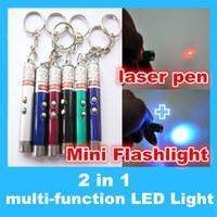 Cheap Mini Flashlight 2 in 1 laser pen Best multi-function LED Light