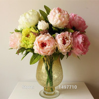 quality silk flowers - High Quality Silk Flowers Artificial Peony Flowers For Decoration Colors Beautiful Wedding Decorative Flower Heads bunch