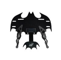 Wholesale New Black Universal Chrome Carbon Motorcycle License Plate Frame ML Bat Batman