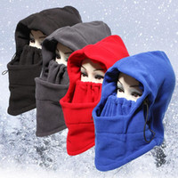 Wholesale 12COLORS NEW Face Mask Unisex Fleece Winter Balaclava Swat Ski Motorcycle Neck Face Mask Hood Hat Helmet Cap Cycling Caps M501