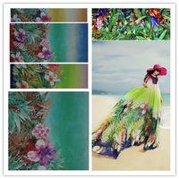 beautiful positions - Digital printing positioning gorgeous flowers beautiful flowers chiffon scarf dress fabric garment fabric