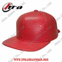 Cheap Wholesale 3PCS Lot Free Ship For Men And Women High Quality Fashion Blank Flat Brim Cap Snakeskin PU Fabric Snapback Hat hip hop casual