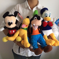 Others Others others Wholesale-Free shipping 4pcs Mickey mouse,Donald duck,GOOFy dog,Pluto dog peluches plush soft toys,best juguetes gift for kids&son