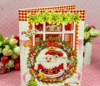 Wholesale Greeting cards Stereo Christmas card Christmas music card Christmas gift card