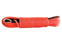 Wholesale Red quot ft Synthetic Winch Rope wd Towing Rope for Car Winch Cable for Winch Accessary Spectra Rope