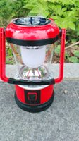 Wholesale 5 LED Hand Solar Lantern Outdoor Camping Work Light Hurricane Modes