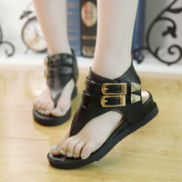 metal ornaments - Good Quality Women Sandals Female Flat Heel Shoes European Style Sandals With Metal Ornament EUZ2