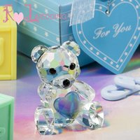 baby shower favors free shipping - 50Pcs Crystal Kids Party Favor Wedding Favors Choice Crystal Collection Teddy Bear Figurines Baby Shower Souvenir