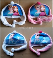 Wholesale Frozen Hat Olaf Snowman Hat Autumn and Winter Hat Inspired by Olaf the Snowman Plush Hat Girls Boys Kids Warm for Party Dress Christmas DHL