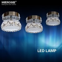 Wholesale Modern W LED Crystal Chandelier Light Fixture Lustres Round Shape LED Chandelier Aisle Corridor Lamp Price for PC Only