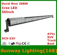 Wholesale Super Bright Inch W LED curved light bar Flood Combo Beam Off Road SUV Jeep ATVs Truck Boat Cree Light Bar