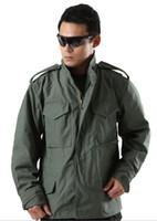 alpha male - Outdoor men American Military Tactical M65 Alpha Jacket male US army windbreaker sports multi pocket hooded coat outwear