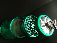 spice smoke - Hot Part Space Alloy Tobacco Grinder Herb Spice Pollen Grinder Crusher Hand Crank Smoking Cracker mm Zinc Alloy Material With Layers