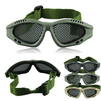 Wholesale Hot Pro Steel Mesh Outdoor Tactical Airsoft Protective Goggles No Fog Glasses Top Quality Voberry